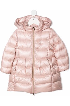 HERNO Feather-down hooded puffer jacket