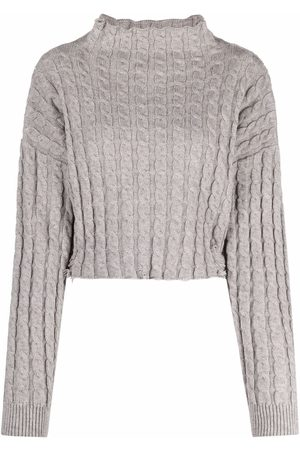 Pinko Distressed-finish knitted jumper