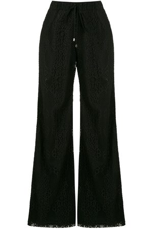 Olympiah Tournesol lace wide-leg trousers