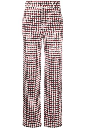 Barrie Houndstooth straight-leg trousers