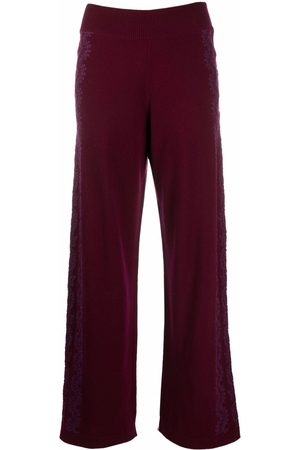 Barrie Lace-embellished straight trousers