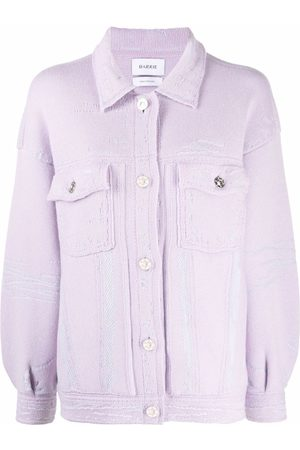 Barrie Distressed-effect knit jacket
