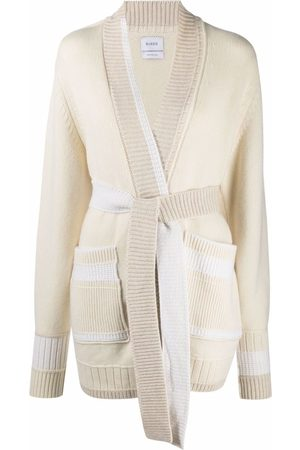 Barrie Belted-waist cashmere cardigan
