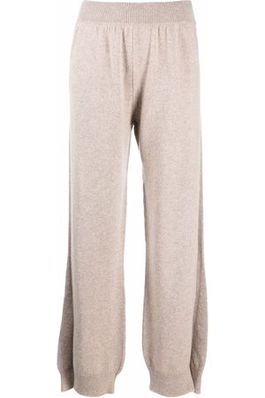 Barrie Side-slit cashmere trousers