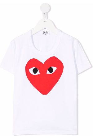 Comme des Garçons Heart-print short-sleeved T-shirt