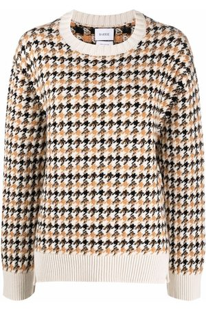 Barrie Houndstooth-pattern cashmere pullover