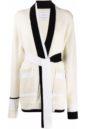 Barrie Contrast-trimmed cashmere cardigan