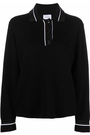 Barrie Contrast-trimmed polo jumper