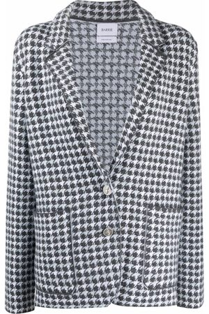 Barrie Houndstooth-print cashmere jacket