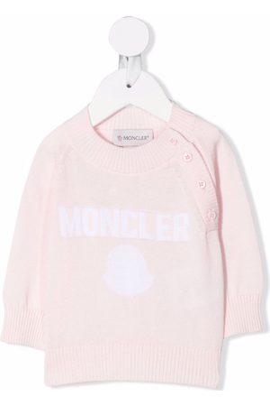 Moncler Long-sleeved logo knit jumper