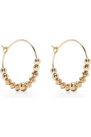Petite Grand Iris beaded hoop earrings