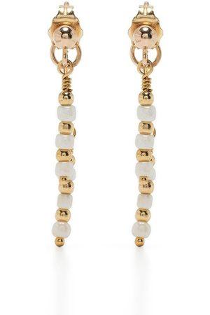 Petite Grand 14kt plated rhodium Azalea double drop earrings