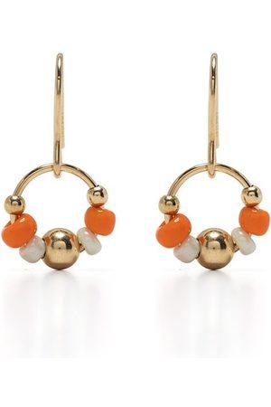 Petite Grand Zinnia little bead earrings