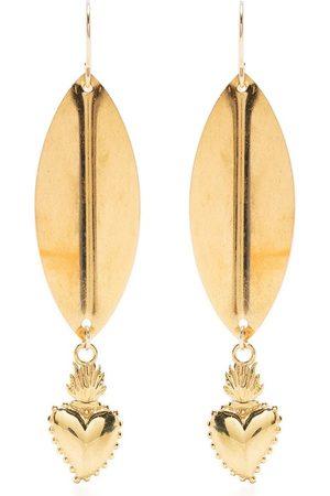 Petite Grand Leaf heart earrings