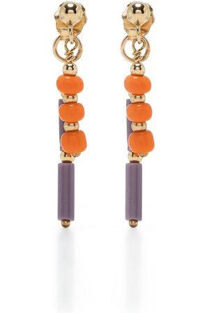 Petite Grand Azalea double drop earrings