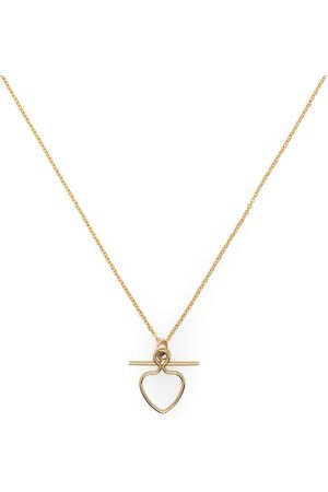 Petite Grand Heart and Bar pendant necklace