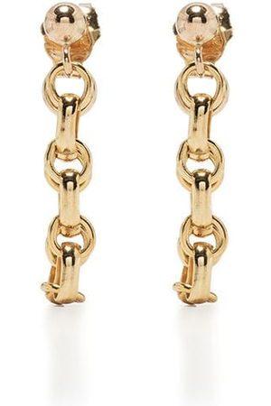Petite Grand 14kt plated rhodium Dahlia loop earrings