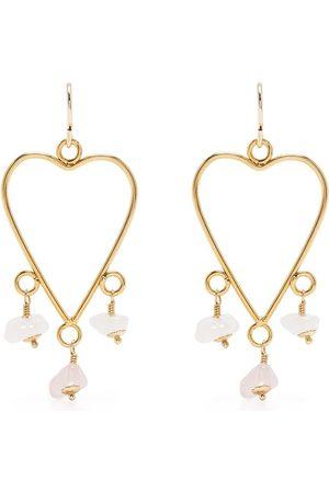 Petite Grand Lauren heart earrings