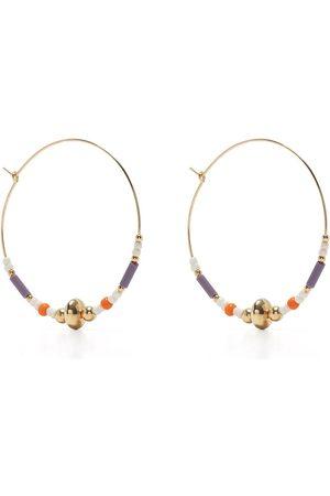 Petite Grand Violet hoop earrings