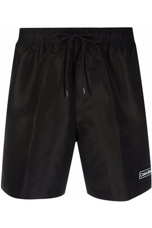Calvin Klein Logo-patch swim shorts