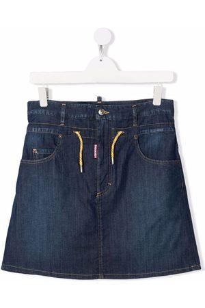 Dsquared2 TEEN drawstring denim skirt