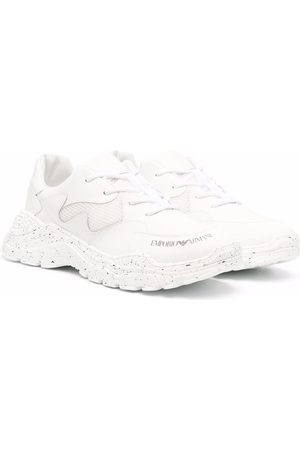 Emporio Armani TEEN low-top lace-up sneakers