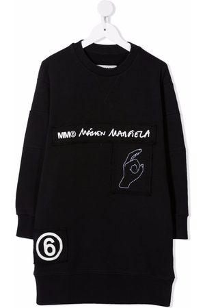 MM6 KIDS Logo-tape midi sweater dress