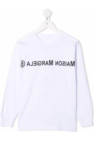 MM6 KIDS Logo-print cotton sweatshirt