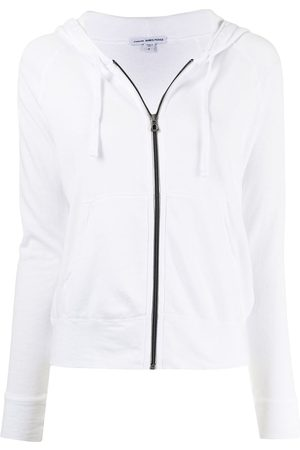 James Perse Zipped drawstring hoodie