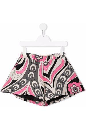 Emilio Pucci Floral-print elasticated shorts