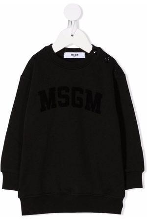 Msgm Logo-print sweater dress