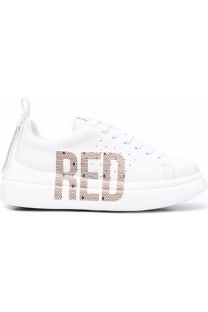 RED(V) Bowalk point d'esprit logo sneakers