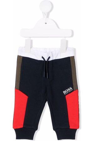HUGO BOSS Colour-block drawstring track pants