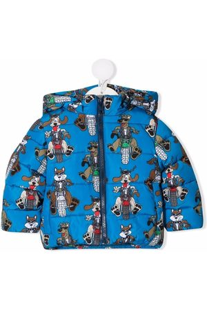 Stella McCartney Motor Doggies print puffer jacket