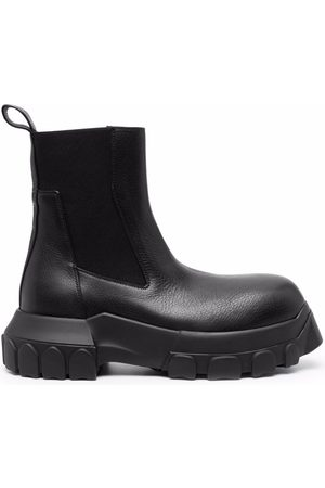 Rick Owens Chunky-sole leather boots