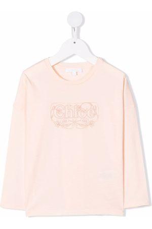 Chloé Long-sleeved logo T-shirt