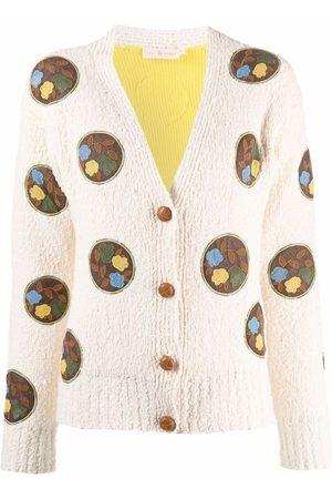 Tory Burch Crochet-patch cardigan