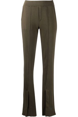 FEDERICA TOSI Flared cotton track pants