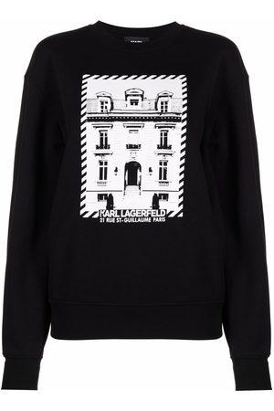 Karl Lagerfeld K/Maison-print rib-trimmed sweatshirt