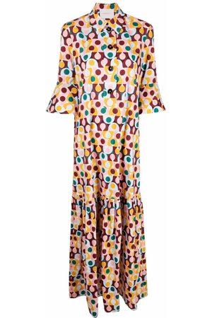 La DoubleJ Artemis foliage-print shirt dress