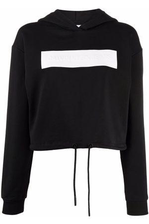 Calvin Klein Logo-debossed cotton hoodie