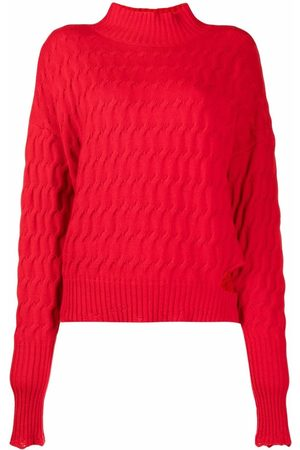 Pinko Cut-out detail cable-knit jumper