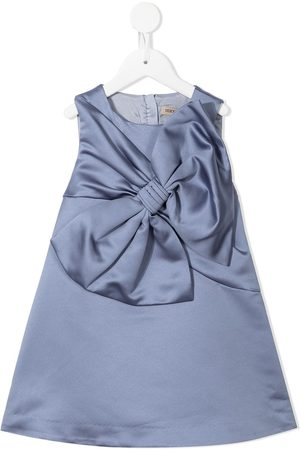 HUCKLEBONES LONDON Oversize bow-detail shift dress