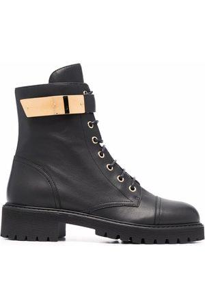 Giuseppe Zanotti Leather lace-up biker boots