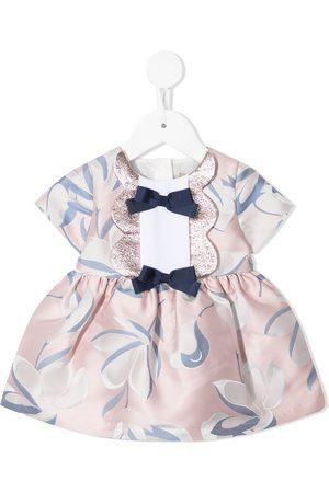 HUCKLEBONES LONDON Floral-print short-sleeve dress