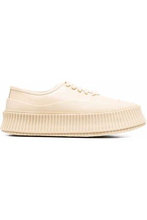 Jil Sander Ridged-sole leather sneakers