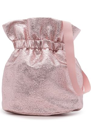 HUCKLEBONES LONDON Metallic-effect pouch bag