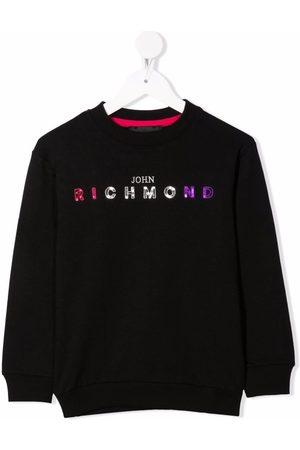 John Richmond Junior Sequin-embellished logo sweatshirt