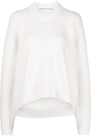 Alexander Wang Draped-back wool jumper