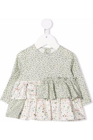 Il gufo Floral-print ruffle blouse